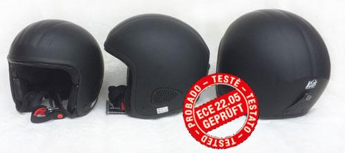 """BORES Jethelm Biker Design /""""TITAN/"""" SRM 2 SLIGHT Leder Motorradhelm Gr XXXL 62//63"""